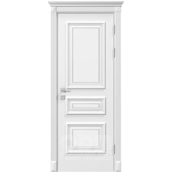 Двери Siena Rossi со стеклом рис.3, белый матовый