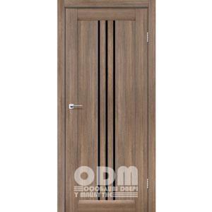 Двери VERONA Серое дерево, стекло черное