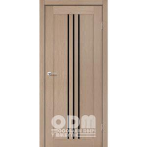 Двери VERONA Дуб мокко, стекло черное