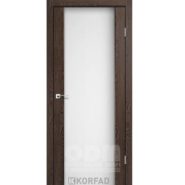 Двери SR-01 Дуб Марсала, триплекс белый