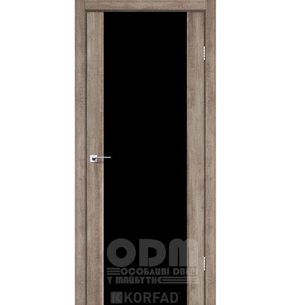 Двери SR-01 Эш-вайт, триплекс чёрный