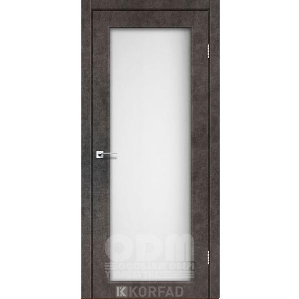 Двери SV-01 Лофт Бетон, сатин белый