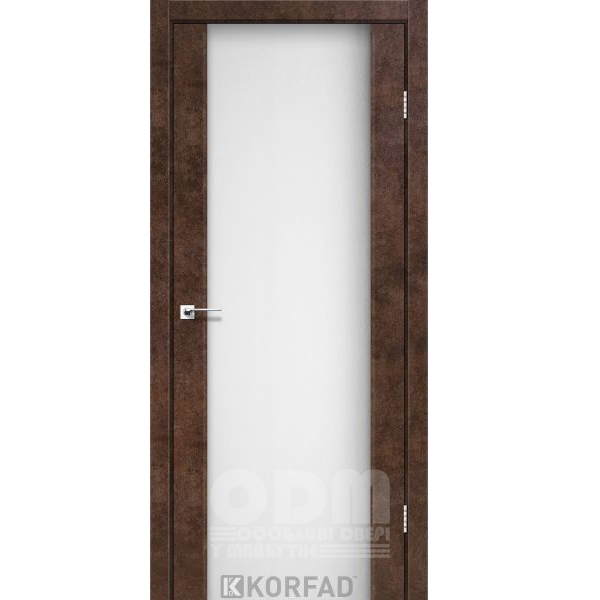 Двери SR-01 Арт Бетон, триплекс белый