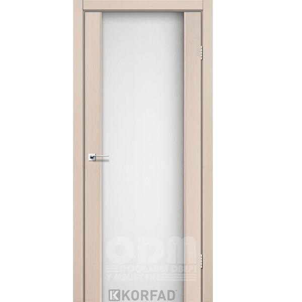 Двери SR-01 Дуб беленный, триплекс белый