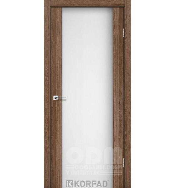 Двери SR-01 Дуб Грей, триплекс белый