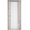 Двери SR-01 Дуб нордик, триплекс белый