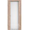 Двери SR-01 Дуб Тобакко, триплекс белый