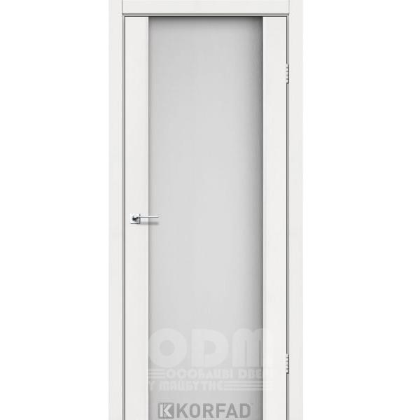 Двери SR-01 Ясень Белый, триплекс белый