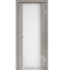 Двери SR-01 Лайт Бетон, триплекс белый