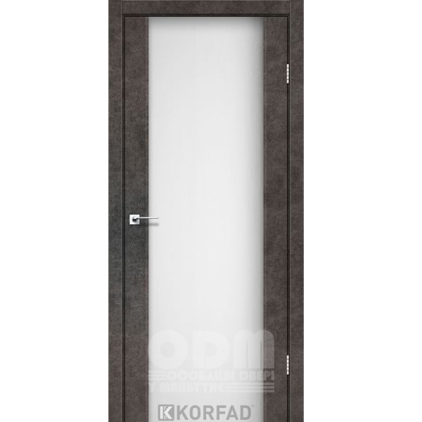 Двери SR-01 Лофт Бетон, триплекс белый