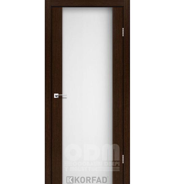 Двери SR-01 Венге, триплекс белый