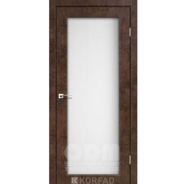 Двери SV-01 Арт Бетон, сатин белый
