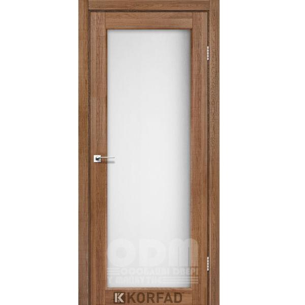 Двери SV-01 Дуб Браш, сатин белый