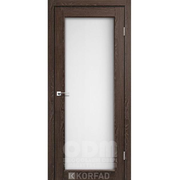 Двери SV-01 Дуб Марсала, сатин белый