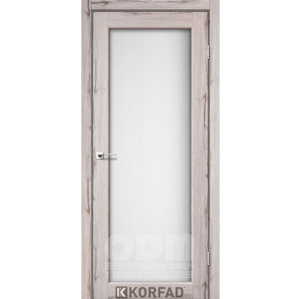 Двери SV-01 Дуб нордик, сатин белый