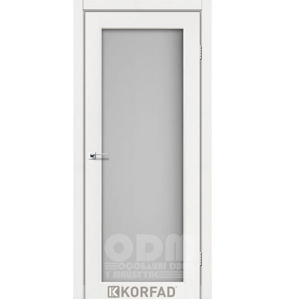 Двери SV-01 Ясень Белый, сатин белый