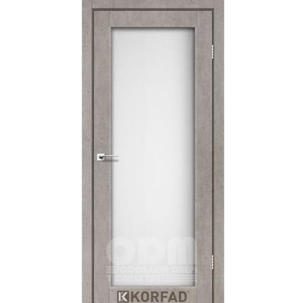 Двери SV-01 Лайт Бетон, сатин белый