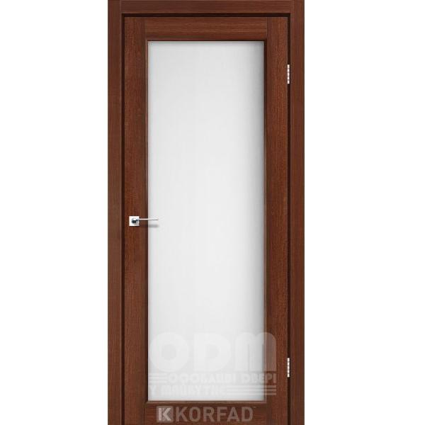 Двери SV-01 Орех, сатин белый