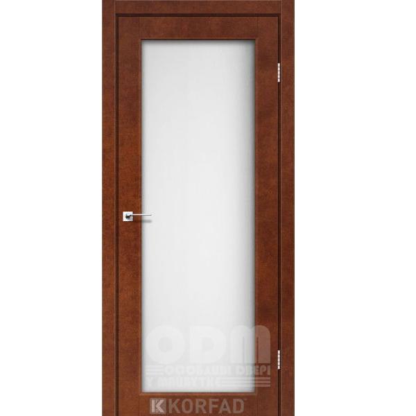 Двери SV-01 Сталь кортен, сатин белый
