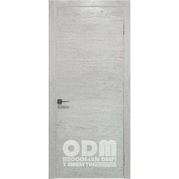 Двери Surf шпон дуба Ral 9003, глухое